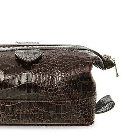Косметичка мужская Truefitt & Hill Gentleman's Wash Bag / Brown crocodile
