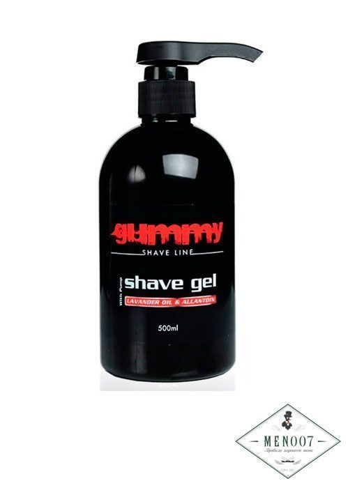 Гель для бритья с лавандовым маслом и дозатором Gummy Shaving Gel Lavander - 500 мл