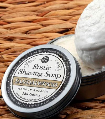 Мыло для бритья Wsp Rustic Shaving Soap Sandalwood -125гр.