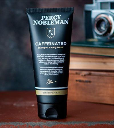 Шампунь и гель для душа с кофеином Percy Nobleman Caffeinated Shampoo & Body Wash - 200 мл
