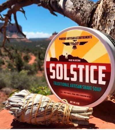 Мыло-крем для бритья ARTISAN ACCOUTREMENTS SOLSTICE PHOENIX SHAVING SOAP 114гр.