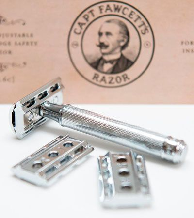 T-образный станок хром Captain Fawcett Fully Adjustable Double Edged Razor