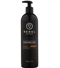 Гель для бритья Rebel Barber Smoky Leather - 500 мл