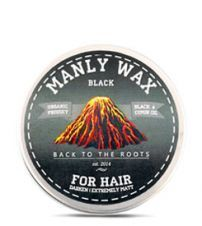 Воск для волос MANLY WAX BLACK 100мл.