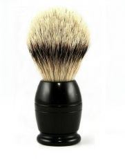 Помазок для бритья 918285 DOVO SHAVING BRUSH PURE SILVERTIP BADGER EBONY