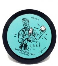 Мыло-крем для бритья RazoRock Blue Barbershop Shaving Cream Soap 150мл.
