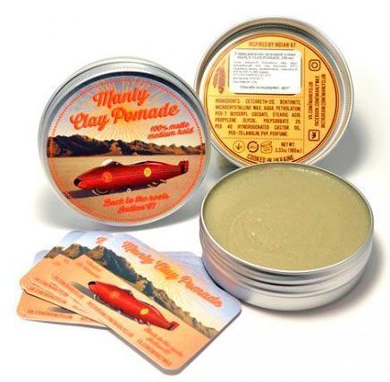 Глина MANLY CLAY POMADE 100мл.