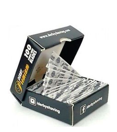 Лезвия для шаветты Derby Premium Single Edge Razor Blades 100шт