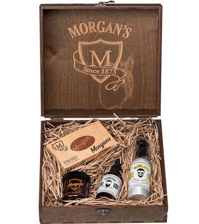 Премиальный подарочный набор для бороды и усов Morgan