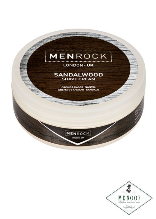 Крем-мыло для бритья Men Rock Sandalwood Shave Cream -100мл.