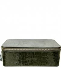 Косметичка мужская Truefitt & Hill Regency Box Bag / Green crocodile