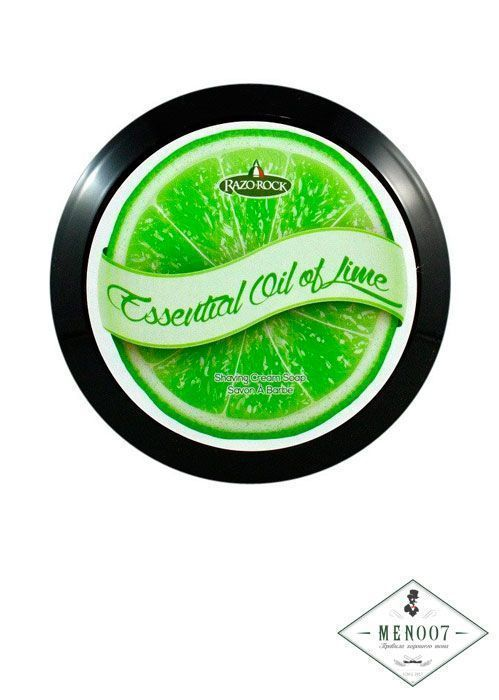 Мыло-крем для бритья Razorock Essential Oil For Lime Shaving Cream Soap -150мл.