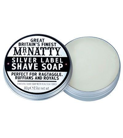 Мыло для бритья Mr.Natty Silver Label Shave Soap - 80 гр