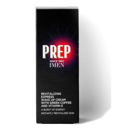 УВЛАЖНЯЮЩИЙ КРЕМ ДЛЯ ЛИЦА PREP FOR MEN REVITALIZING EXPRESS WAKE UP FACIAL CREAM С ЭКСТРАКТОМ ЗЕЛЕНОГО КОФЕ И ВИТАМИНОМ Е 75 МЛ