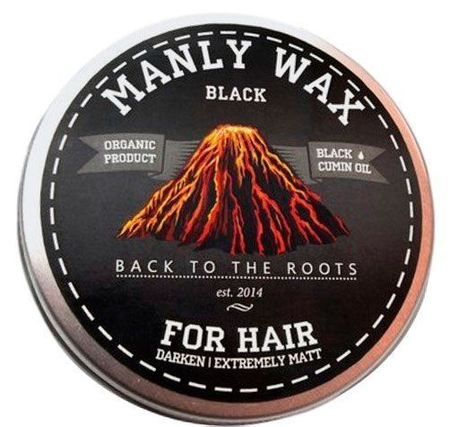 "Воск для волос MANLY WAX ""BLACK"" 50 МЛ"